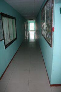 Коридор на 1 этаже общежития